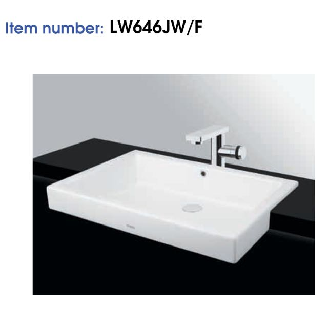 Brand New BN Toto Wash Basin Ceramic LW646J Semi recessed, Furniture ...