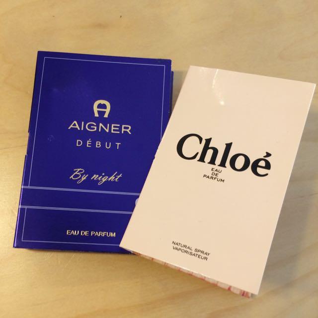 AIGNER 試管小香 針管香水 *chloe 售出*
