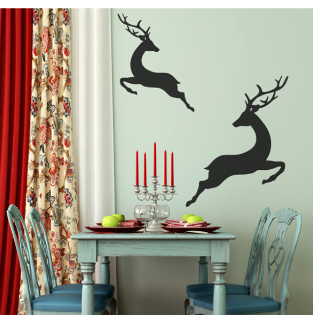 Christmas Wall Decal Stickers .