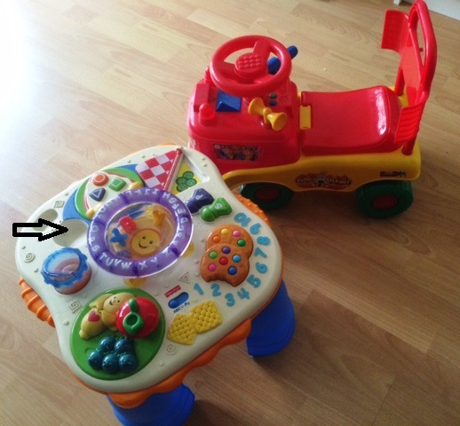 Fisher Price Learning Table and baby car toy