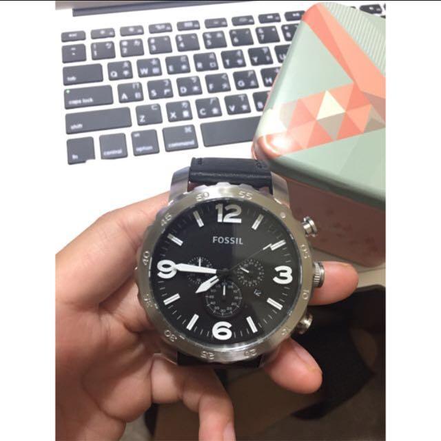 Fossil 三眼運動計時腕錶