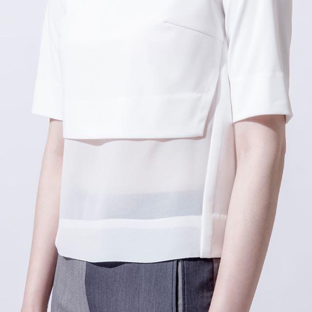 iohll短版視覺上衣 白色