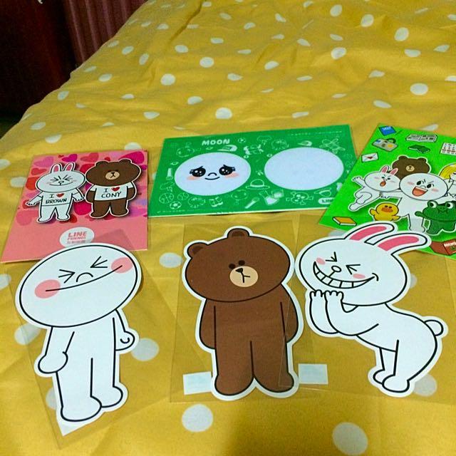 Line Postcard 明信片 展覽購回
