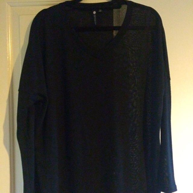 Long Sleeve Black Shirt.