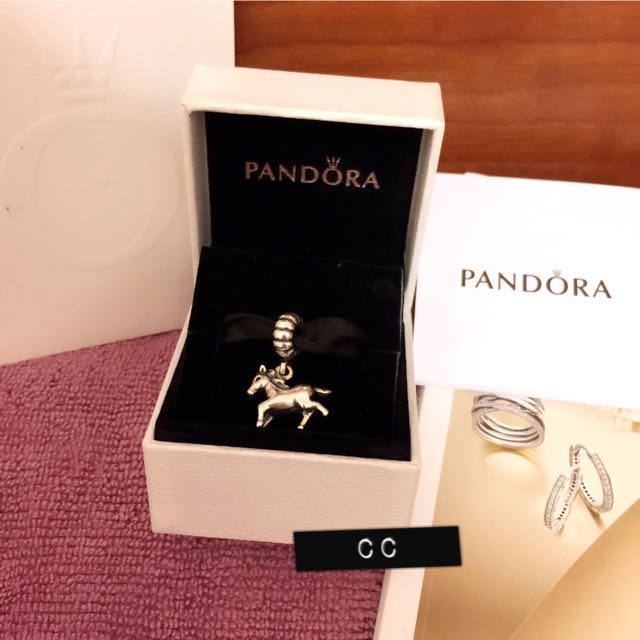 (保留)PANDONA 潘朵拉 十二生肖 馬 925純銀吊飾