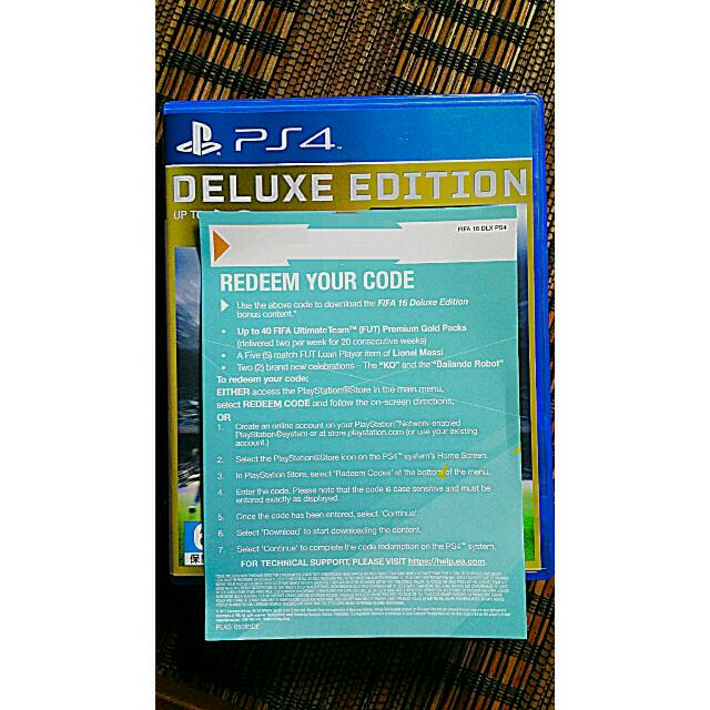 PS4 FIFA16 DELUXE EDITION FUT DLC CODE!, Toys & Games on