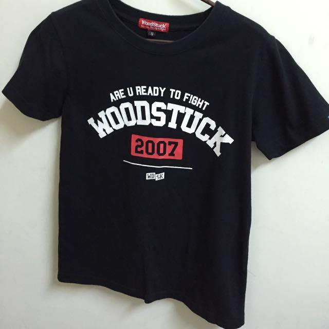 [待寄出]《二手》WoodStuck黑色短袖T恤S