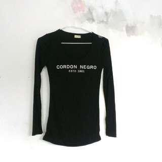 【免運】全新正韓字母長袖T恤黑色🌠grace gift D+af Tiffany Dior Channel A&aF