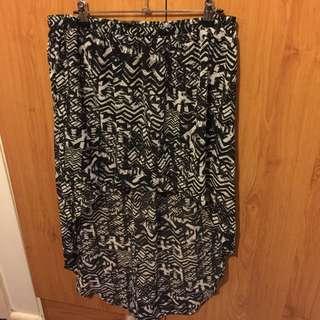 Size 16 Skirt Long Back Short Front