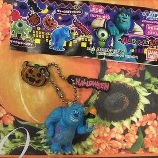 日本Bandai 怪獸大學萬聖節限定Halloween 毛怪吊飾扭蛋 轉蛋