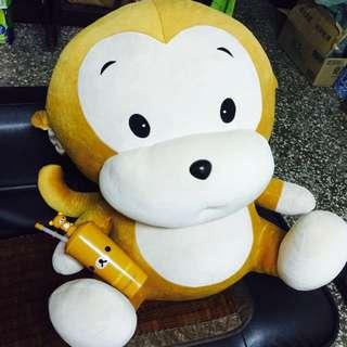 可議😍超大猴子玩偶🐒九成新