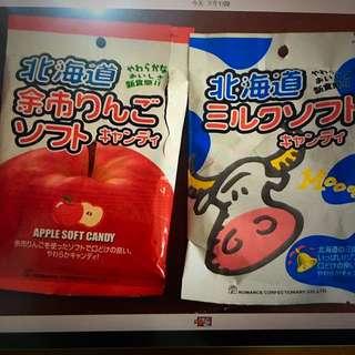 💋徵收 北海道糖果 蘋果 /牛奶口味 (已解決)