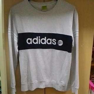 Adidas 三抓logo 長袖 大學T