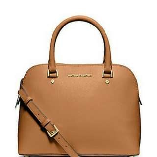 MICHAEL KORS Satchels Cindy Medium Saffiano Leather Dome Satchel Bag