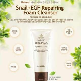 韓國原裝進口正品秘密鑰匙Secret Key 蝸牛+EGF修複洗面乳