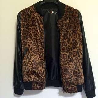 豹紋皮外套
