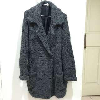 Lowrys Farm毛呢雙排扣大衣