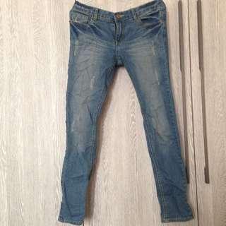 韓製牛仔褲 Size L