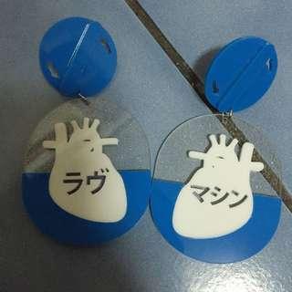 (喜歡直接出價 你出價合理就賣)「閃光隧道」手工夾式耳環