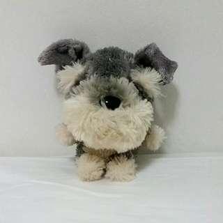 Fluffy Grey Dog Soft Toy