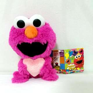 Magenta Elmo Holding Heart (with tag)