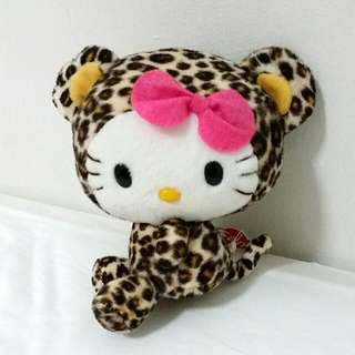 Leopard Print Hello Kitty (with tag)