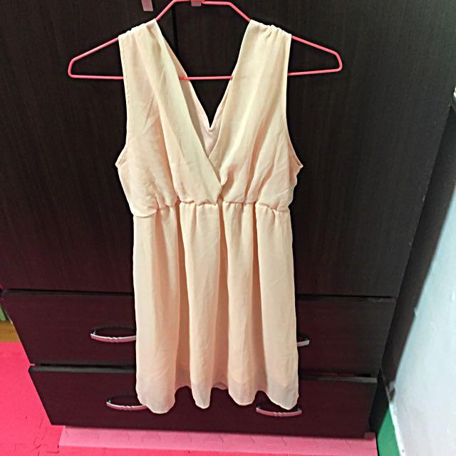 粉色雪紡洋裝50