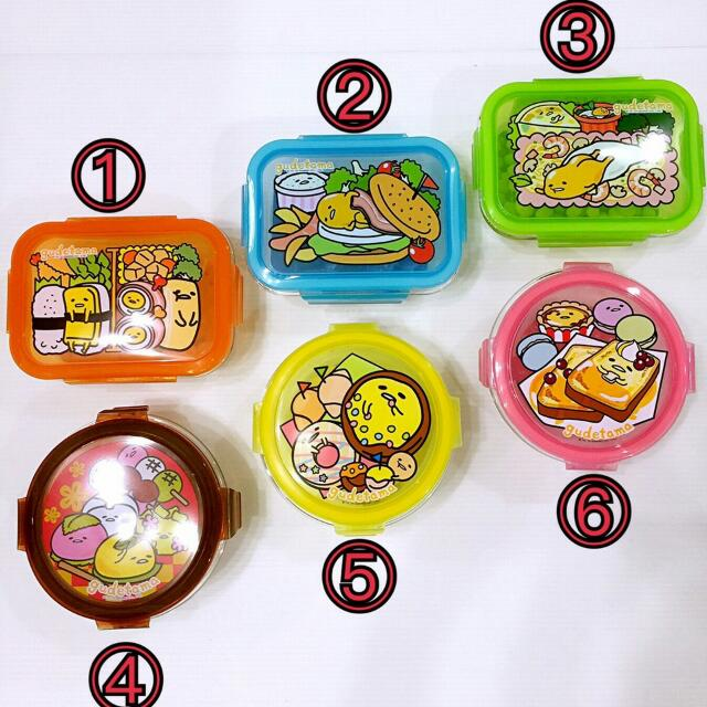 @愛買寶-7-11蛋黃哥【耐熱玻璃密封保鮮盒(全套6款)限整組出售