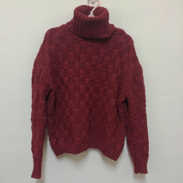 高領粗針織衫(8成新)