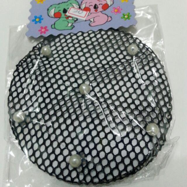 可換物黑色珠網包頭
