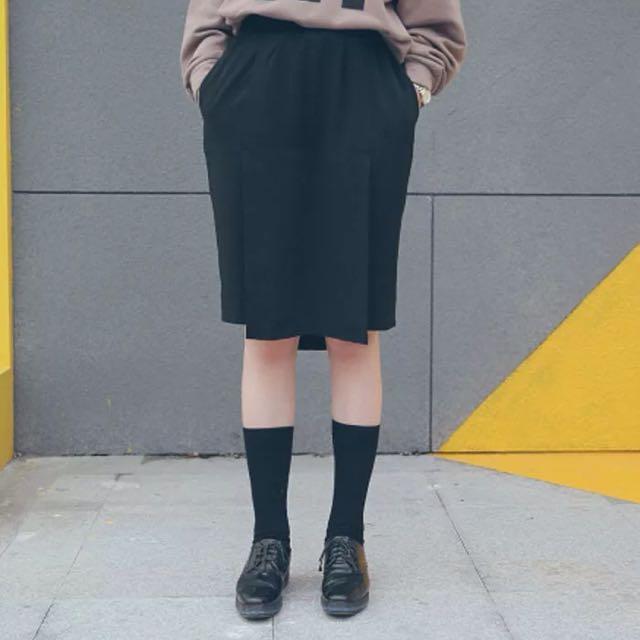 設計款褲裙 寬褲