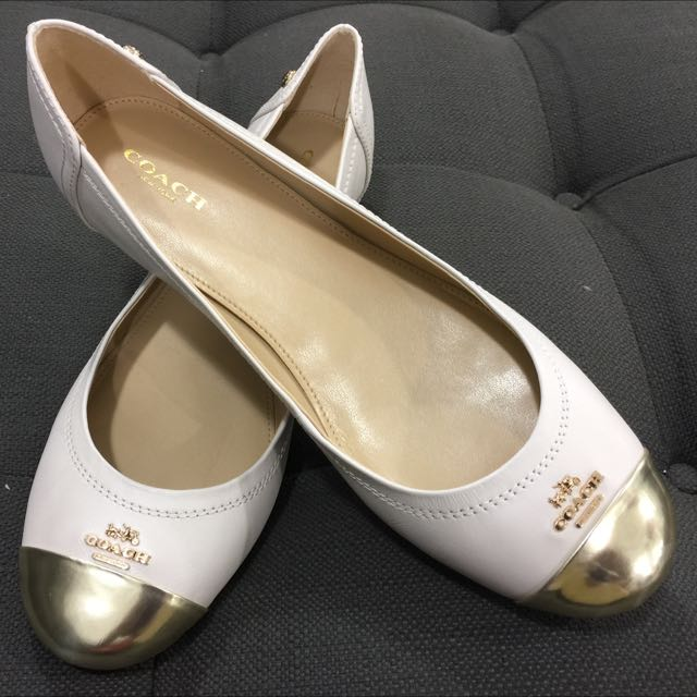 adf14937e71 france coach chelsea leather ballet flats shoes size 8.5 luxury on carousell  36c96 6ed89