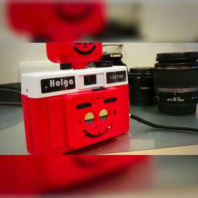 HOLGA 135 TIM 雙眼 半格底片機 閃燈 膠卷 玩具相機