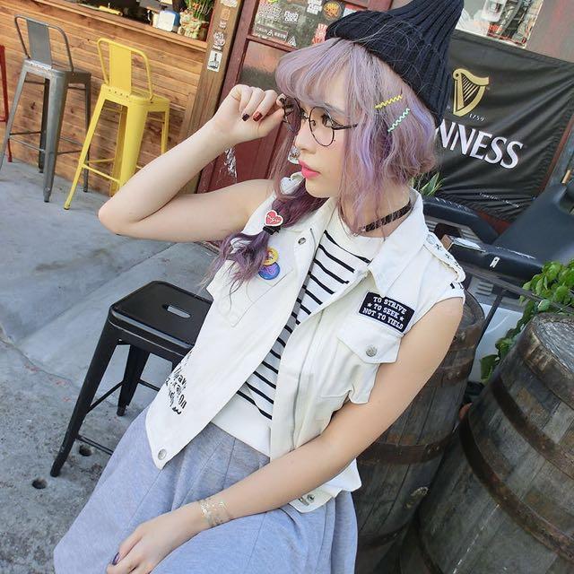 全新✨Major Made 短板軍裝襯衫背心 Mjr