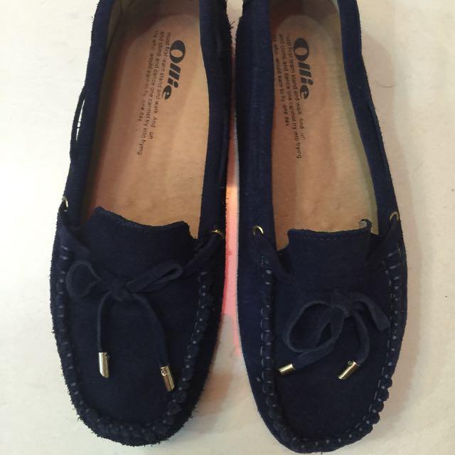 韓國Ollie真皮豆豆鞋