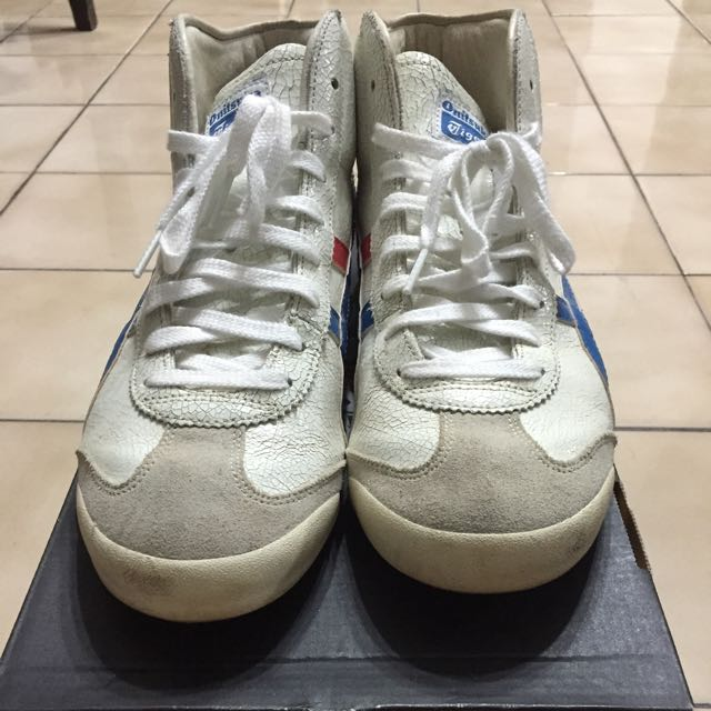 outlet store 3b88a 0c22a Onitsuka Tiger Mexico 66 Mid Runner White/ Blue 27.0cm ...