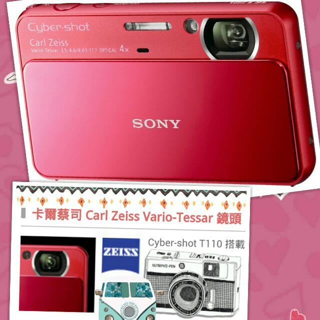 SONY T110全觸控1600萬畫素相機*滑蓋立即開機(有保護貼9成新)