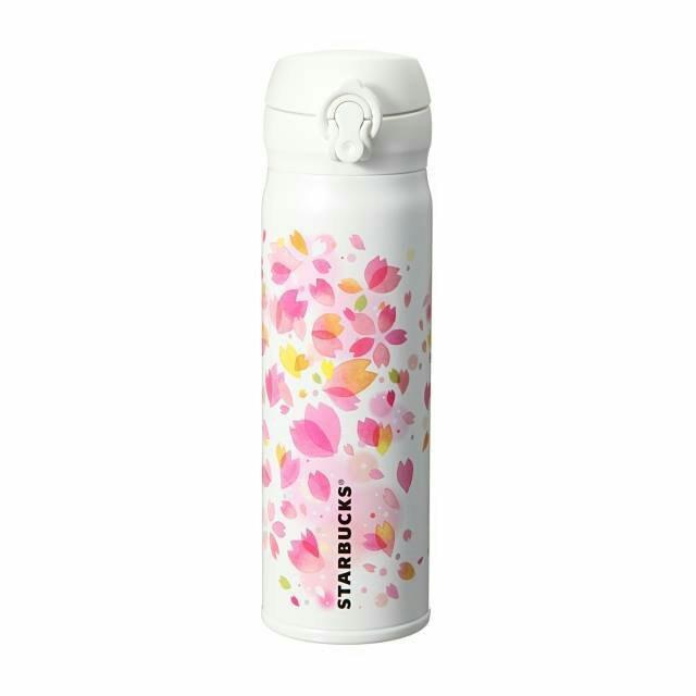 2015日本星巴克STARBUCKS限定櫻花杯(膳魔師品牌)大白彈蓋輕量保溫瓶480ML