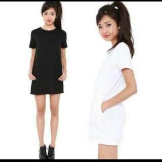 *BNWOT* Pocket Shirt Dress In WHITE