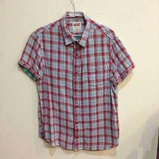 [二]男裝 Levi's 格紋短袖襯衫