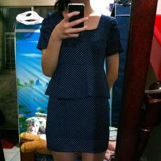 寶藍點點洋裝