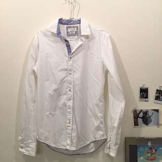 💥【襯衫】ZARA 男 修身型男白襯衫 S/38