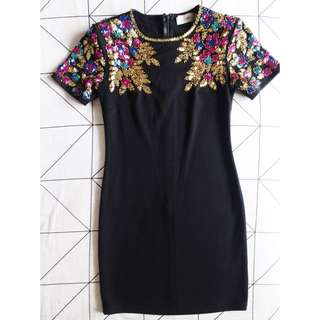 Lashes Of London Bodycon Dress with Embellished Shoulder