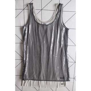 Guess Sequin Top - Silver