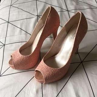 Sparkly Light Pink Heels