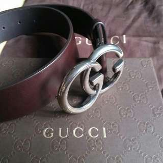Authentic GUCCI Men Leather Belt