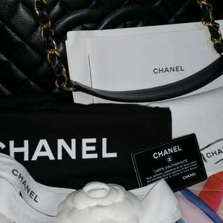 Almost New GST Chanel Tote Bag GHW