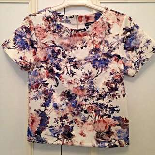 Floral Print Tee - Size SMALL
