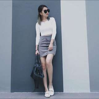 Criss Cross Side Details Skirt