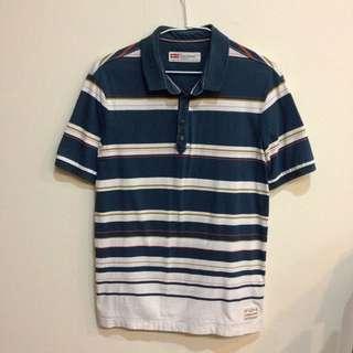 [二手]男版 Levi's 短袖條紋有領上衣